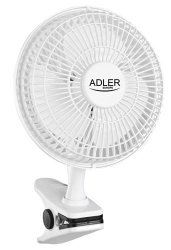 Wentylator Adler AD7317 | podstawa + klips | 15cm
