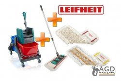 Zestaw Leifheit Professional | Wózek Duo + Mop z nakładką Tuft + nakładka Tuft + nakładka Micro | 59101/59103/59104/59105