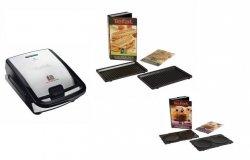 Opiekacz Tefal Snack Collection SW 852D 12 | 4 płyty w zestawie: kanapkowa, gofrowa, panini, naleśnikowa