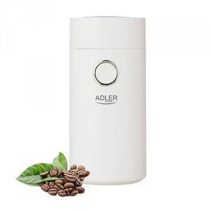 Młynek do kawy Adler AD 4446ws | BIAŁY WHITE SILVER | 150W