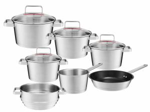 Zestaw garnków Ambition Selection + pokrywy + patelnia 24cm + wkład do gotowania na parze   31029/31030/31031/31032/31033/31034/31035   11PCS