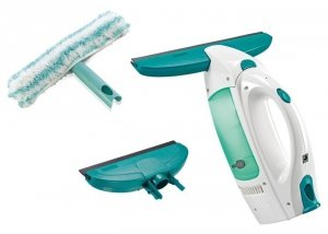 Myjka Leifheit Wet & Dry + dodatkowa ściągaczka o szerokości 17 cm + myjka ręczna dwustronna 51004/51163