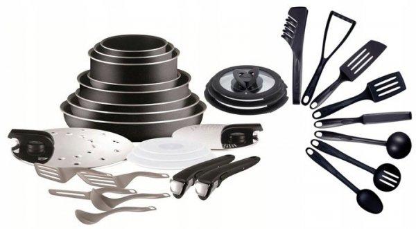 Zestaw Tefal Ingenio Essential L20097 + pokrywy Ingenio + akcesoria kuchenne   31PCS   L2009702/L99310/BIENVENUE