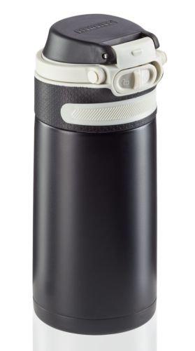 Bidon termiczny Leifheit FLIP 3243 stalowy 350ml CZARNY | Kubek termiczny