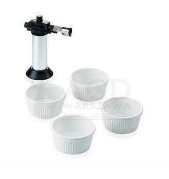 Set: Zestaw podarunkowy Leifheit Crème brûlée: palnik + 4 ceramiczne miseczki (Symbol: 3118)