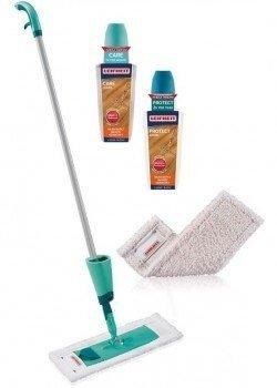 Zestaw pielęgnacyjny Leifheit Care & Protect 56499 do parkietów i paneli olejowanych i woskowanych | Easy Spray | Care & Protect | MOP + 2x płyn + 2x nakładka