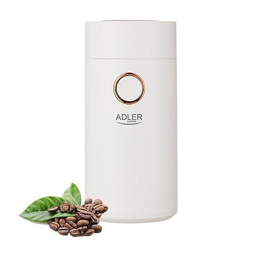 Młynek do kawy Adler AD 4446wg | BIAŁY WHITE GOLD| 150W