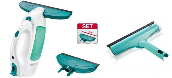 Odkurzacz do szyb Leifheit 51004 Dry & Clean (Myjka) + ściągaczka o szerokości 17 cm + Myjka 3 w 1