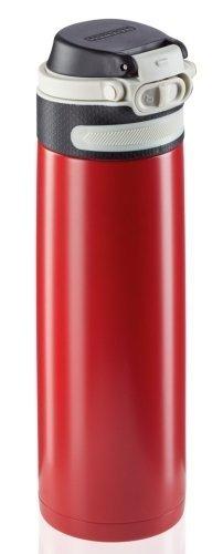 Bidon termiczny Leifheit FLIP 3273 stalowy 600ml CZERWONY | Kubek termiczny