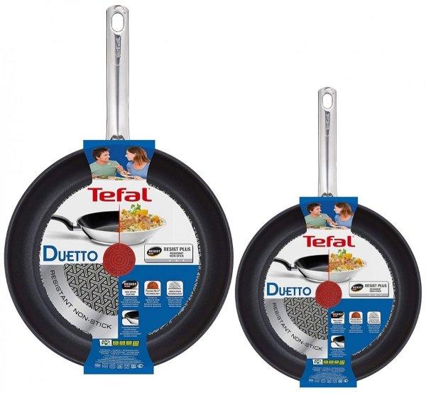 Zestaw: Patelnia Tefal Duetto 24 i 28 cm A70404/A70406