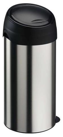 Kosz na śmieci Meliconi Soft Touch 60L   STAL SZCZOTKOWANA   14000739206BB