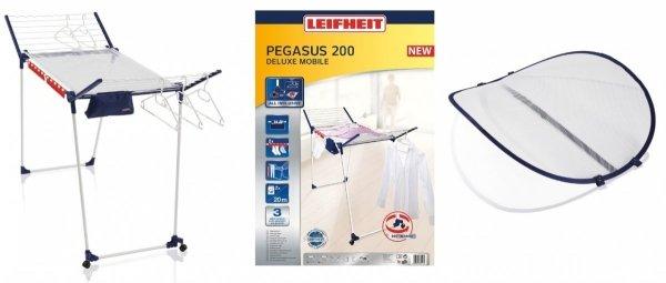 Suszarka do ubrań Leifheit 81517 Pegasus 200 Deluxe Mobile + Susyarka do delikatnzch tkanin