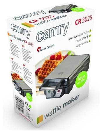Gofrownica Camry CR 3025 | 1150 W | 4 gofry