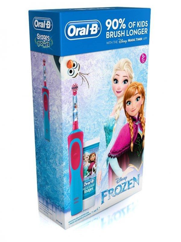 Szczoteczka elektryczna Braun Oral-B D12 Kids Frozen (Kraina lodu) + Pasta #Akumulatorowa