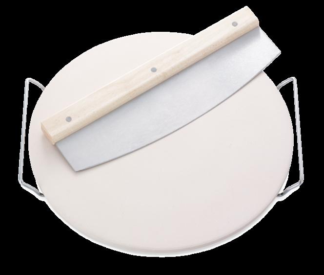 Kamień do pizzy Leifheit z nożem | 3159 | Ceramiczna podstawka