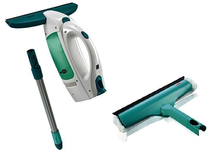Leifheit 51108: 51001/51320 Dry&Cean: zestaw myjka Leifheit: myjka + ściągaczka elektryczna + drążek 43 cm