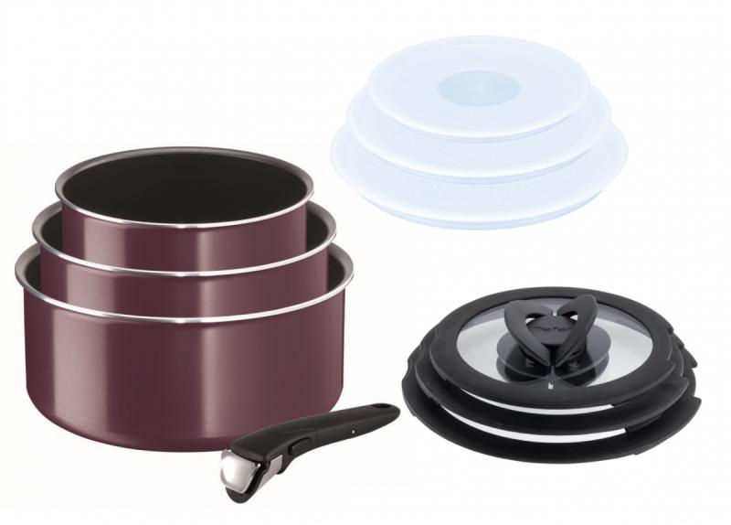 Garnki 16/18/20cm zestaw z pokrywami Tefal Ingenio ESSENTIAL z rączką | 10PCS | L20191 L90192 L99310