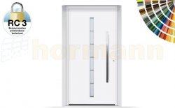 Drzwi aluminiowe ThermoSafe, Wzór 189, kolor do wyboru, przeciwwłamaniowe RC 3