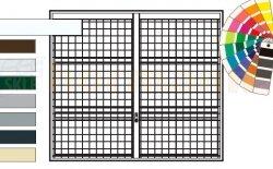 Brama uchylna N 80, 2250 x 2000, Wzór 903 spawana krata 100 x 100 x 5 mm, kolor do wyboru