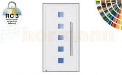 Drzwi aluminiowe ThermoSafe, Wzór 177, kolor do wyboru, przeciwwłamaniowe RC 3