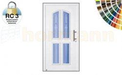Drzwi aluminiowe ThermoSafe, Wzór 402, kolor do wyboru, przeciwwłamaniowe RC 3