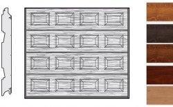 Brama LPU 42, 2500 x 2500, Kasetony S, Decograin, okleina drewnopodobna