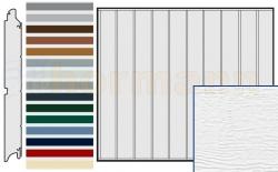 Brama boczna HST, Woodgrain, Przetłoczenia M, kolor do wyboru