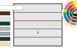 Brama uchylna N 80, 2375 x 2125, Wzór 985, kolor do wyboru