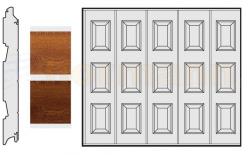 Brama boczna HST, Decograin, Kasetony S, okleina Golden Oak (złoty dąb), Dark Oak (orzech)