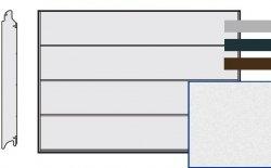 Brama LPU 42, 3750 x 2250 Przetłoczenia L, Sandgrain, kolor do wyboru