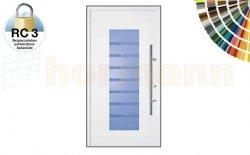 Drzwi aluminiowe ThermoSafe, Wzór 136, kolor do wyboru, przeciwwłamaniowe RC 3