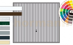 Brama uchylna N 80, 2375 x 2250, Wzór 902, kolor do wyboru