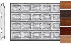 Brama LPU 42, 4000 x 2000, Kasetony S, Decograin, okleina drewnopodobna