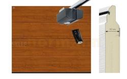 Brama automatyczna ISOMATIC 42 mm, 2500 x 2125, Przetłoczenia L, DecoColor, Golden Oak, z napędem elektrycznym