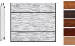 Brama LPU 42, 2250 x 2000, Przetłoczenia L, Decograin, okleina drewnopodobna