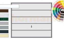 Brama uchylna N 80, 2500 x 2125, Wzór 985, kolor do wyboru