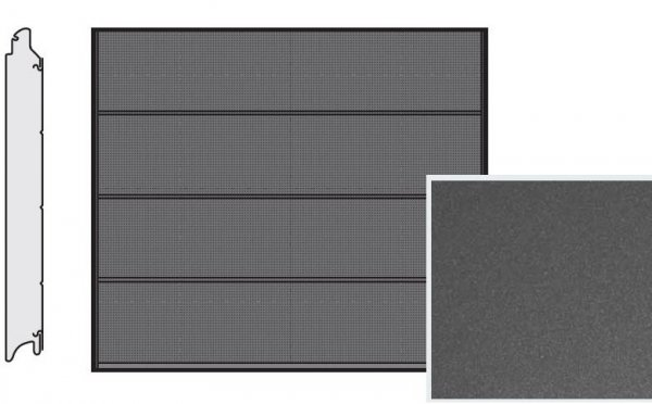 Brama LPU 42, 2500 x 2000, Przetłoczenia L, Decograin, Titan Metallic CH 703