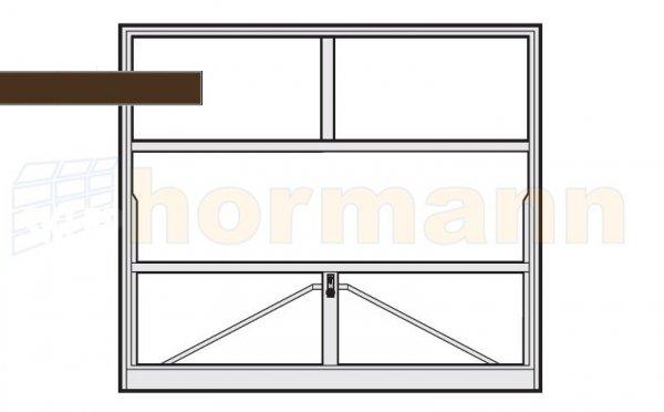 Brama uchylna N 80, 2500 x 1920, Wzór 905 do wypełnienia