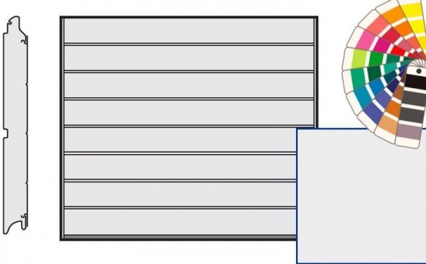 Brama LPU 42, 2315 x 1955, Przetłoczenia M, Silkgrain, kolor do wyboru