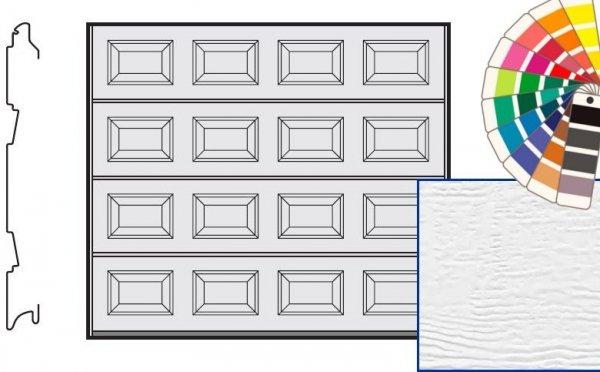 Brama LTE, 2500 x 2125, Kasetony S, Woodgrain, kolor do wyboru