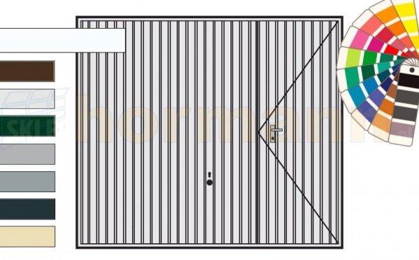 Brama uchylna N 80, 3000 x 2125, Wzór 902 z drzwiami, kolor do wyboru