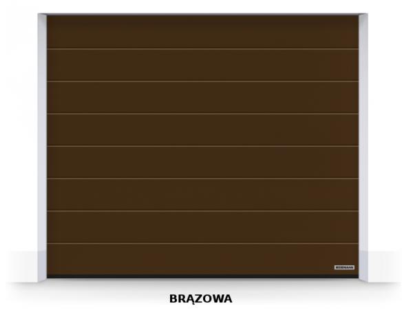 Brama segmentowa RenoMatic 2019, 2375 x 2000, Przetłoczenia M, Woodgrain / DecoColor, kolor do wyboru