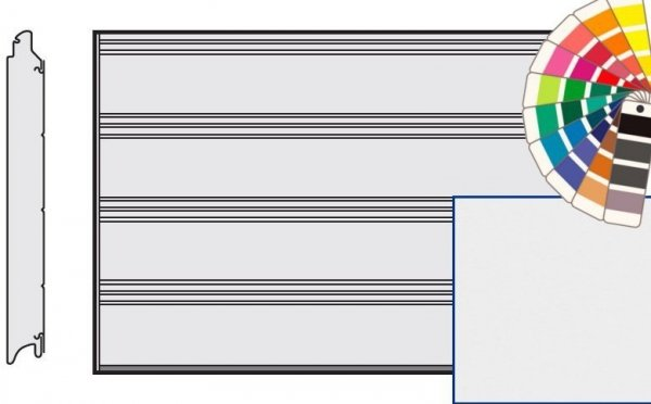 Brama LPU 42, 5000 x 2250, Przetłoczenia T, Silkgrain, kolor do wyboru