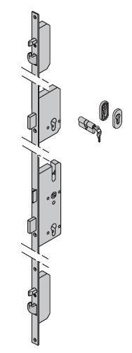 Dodatkowy zamek ryglowy - TPS Okucia ES1 ---|} owalna rozeta z wkładką patentową 40,5 + 31,5 do drzwi ThermoPro