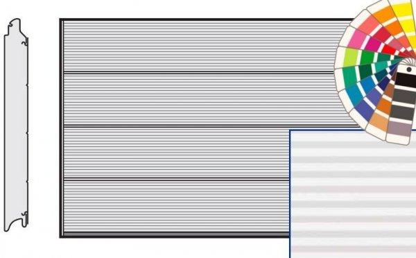 Brama LPU 42, 5000 x 2125, Przetłoczenia L, Micrograin, kolor do wyboru