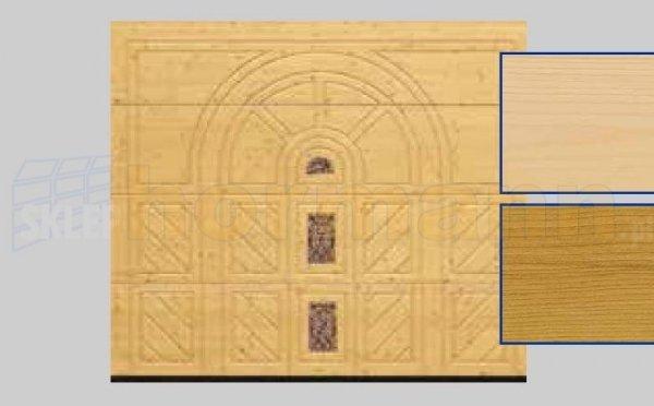 Brama LTH, 2500 x 2125, Wzór 404, Świerk, z kamieniem naturalnym