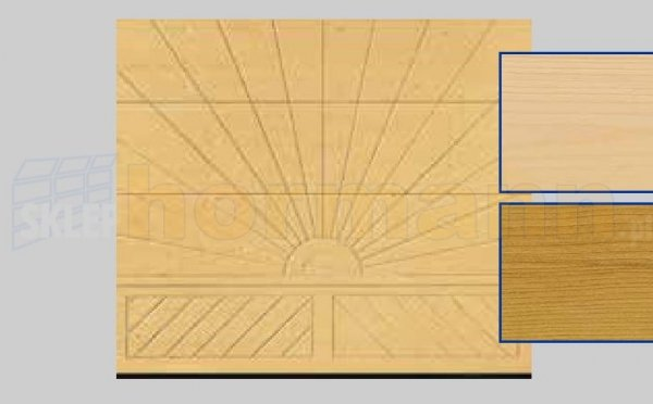 Brama LTH, 2500 x 2125, Wzór 403, Świerk