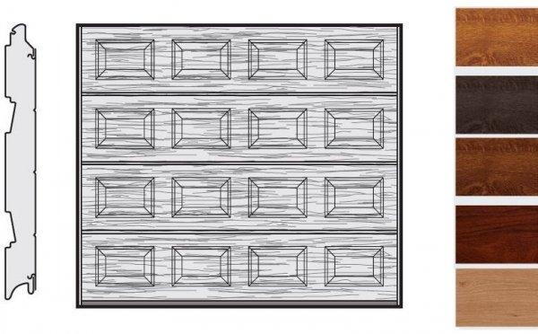 Brama LPU 42, 2250 x 1875, Kasetony S, Decograin, okleina drewnopodobna