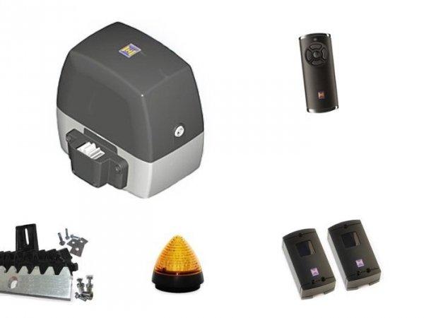 ZESTAW: napęd LineaMatic seria 3 (do 300 kg, do 6 metrów) + pilot HS 5 BS (z funkcją sprawdzania statusu bramy) + lampka LED SLK + fotokomórki + listwa zębata
