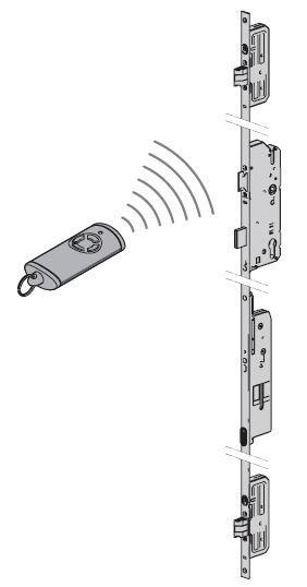 Ryglowanie wielopunktowe z otwieraniem przy pomocy nadajnika do drzwi ThermoPlus